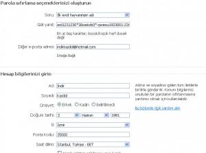 MSN Kaydol Formu