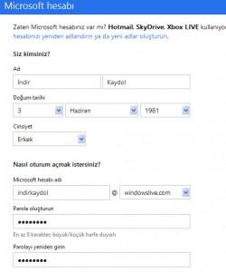 Windowslive Kaydol - Kullanıcı Adı Alma
