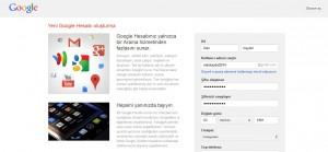 Google+ Kayıt Sayfası