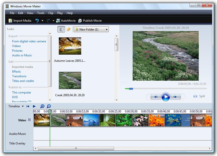 Как сделать видео из фото на компьютере windows