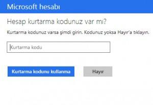 Hotmail Hesabı Kurtarma