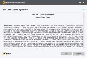 Norton Power Eraser Kullanıcı Sözleşmesi