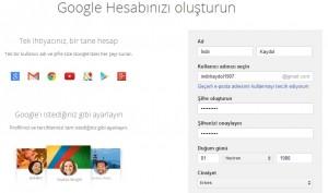Chrome Hesap Aç