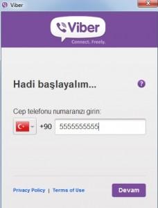Viber Kurulum Ekranı
