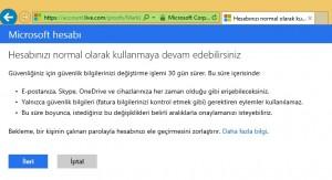 MSN Şifre Değiştirme