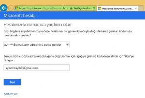 MSN Hesabı Şifre Değiştirme