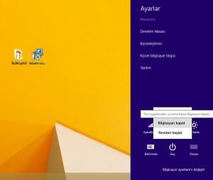Windows 8 Nasıl Kapatılır