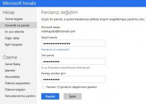 Hotmail Şifre Değiştir