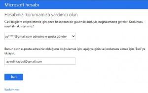 Hotmail Şifre Değiştirme