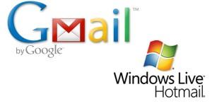 Gmail ve Hotmail En Çok tercih edilenlerdir