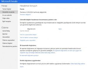 Hotmail Parola Değiştir