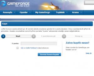 Gameforge Kaydol