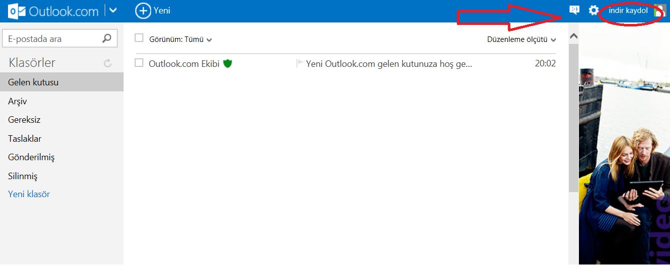 Outlook şifrenizi değiştirme işlemine başlamadan önce, ilk