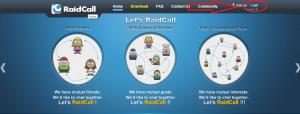 RaidCall Şifresi Değiştirme