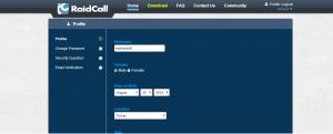 RaidCall Şifre Değiştir