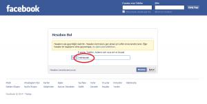 Facebook Hesap Kurtarma