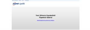 Mynet Şifre Değiştirme Ekran Görüntüsü