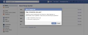 Facebook Şifre Değiştir