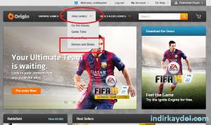 FIFA 2015 Demo Origin Kaydol