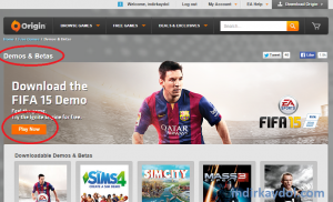 Origin FIFA 2015 Demo İndirme