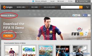 Origin FIFA 2015 Demo İndirme