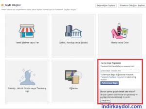 Facebook Ürün Tanıtım Sayfası Oluşturma