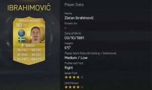 FIFA 2015 - 3. Ibrahimovic