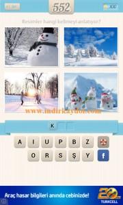 Resimli Kelime Bulmaca Kış