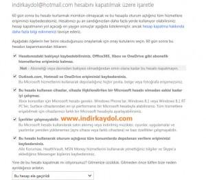 MSN Hesabını Silme