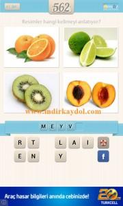 Resimli Kelime Bulmaca Meyve