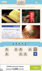 Resimli Kelime Bulmaca Arapça