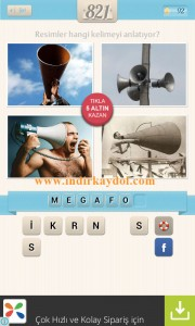Resimli Kelime Bulmaca Megafon