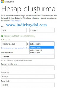 Outlook Hesap Aç