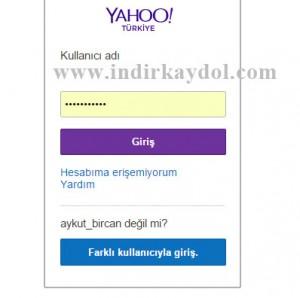 Yahoo E-posta Şifre Değiştirme