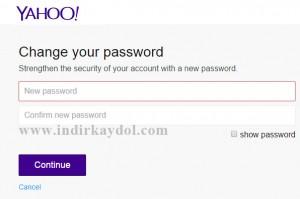 Yahoo Hesabı Şifre Değiştirme
