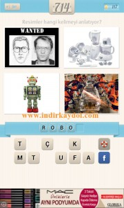 Resimli Kelime Bulmaca Robot
