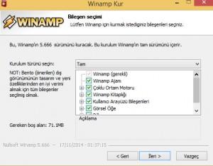 Winamp Son Sürüm Kurulumu