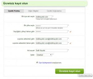 Sanal Pazar Kaydol