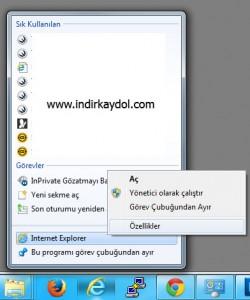 V9 İnternet Explorer'dan Kaldırma