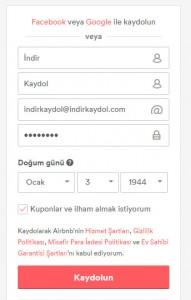 Airbnb Kaydol