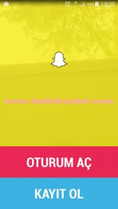 Snapchat Kayıt Ol