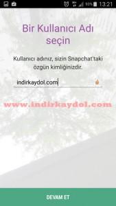 Snapchat Kullanıcı Adı Seçme