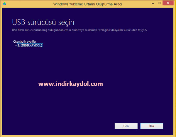 Windows 8.1 USB Format