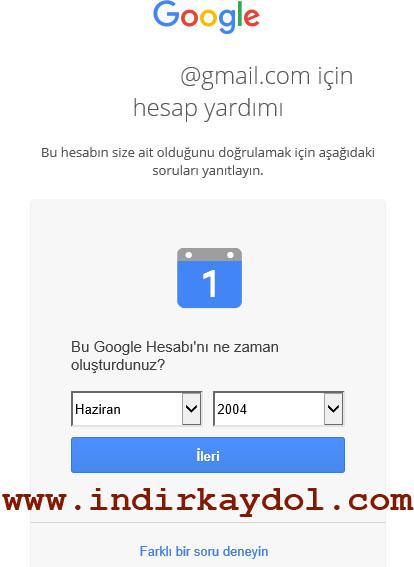 Gmail E-posta Kurtarma