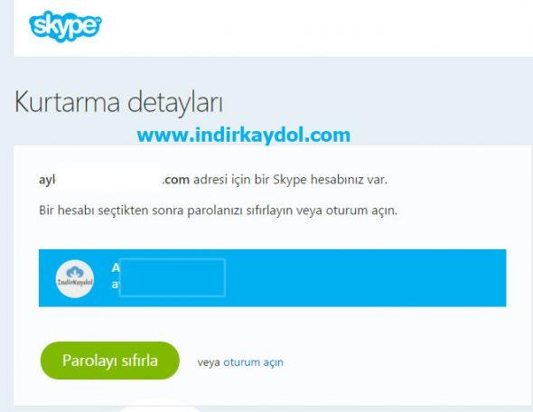 Skype Parola Sıfırlama