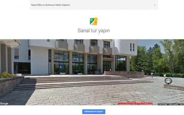 Google Üniversite Sanal Tur