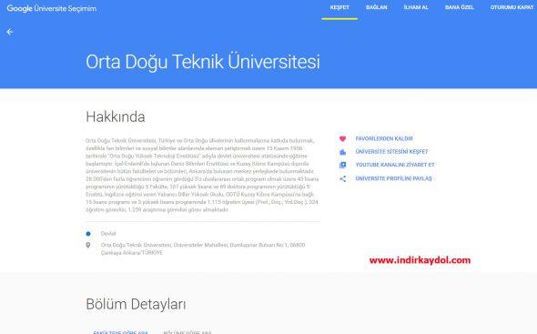 Google Üniversite Seçimim Nasıl Kullanılır