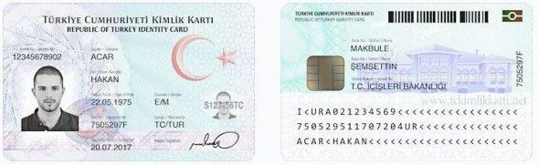 Türkiye Cumhuriyeti Yeni Kimlik Kartı