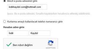 Gmail E-posta Adresimi Unuttum