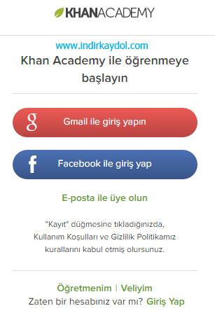 Khan Academy Kaydol